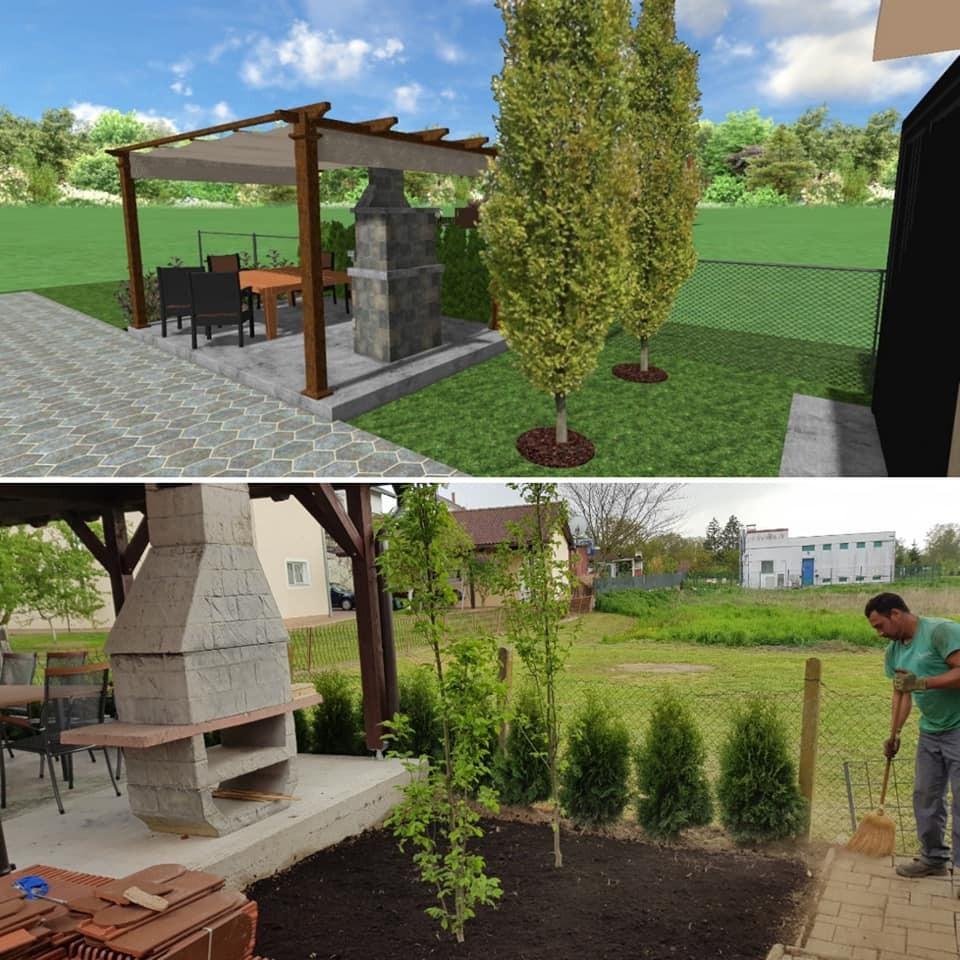 Sadnja biljaka i uređenje dijela travnjaka