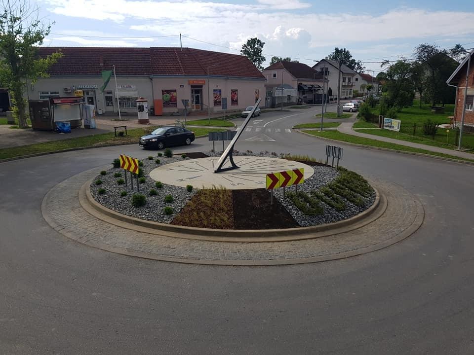 Kružni tok u Dubravi, uređenje, zelenilo