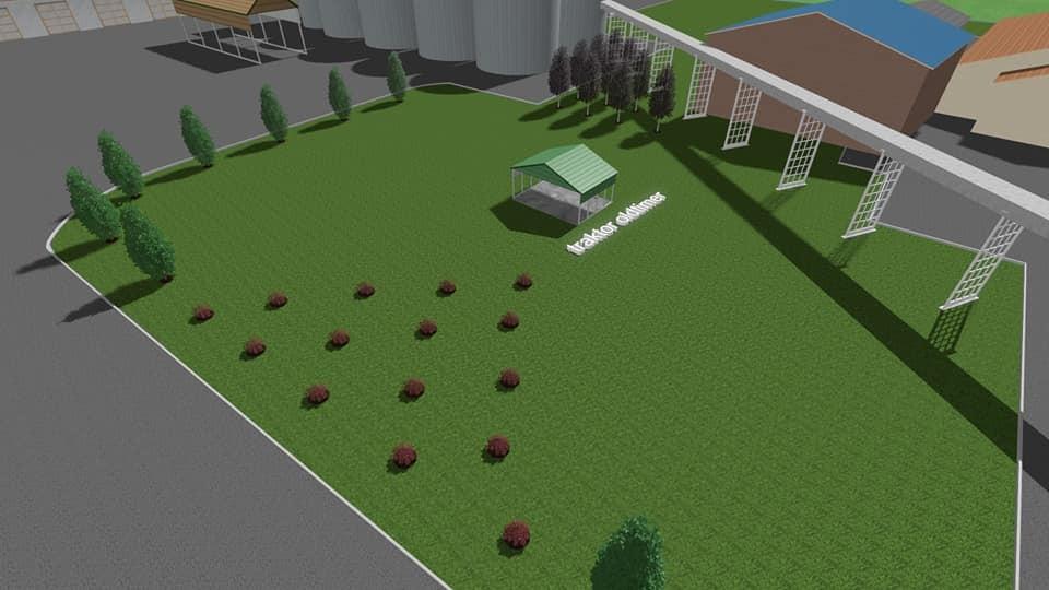 Sadnja grmova i velikih stabala prema idejnom rješenju dizajna