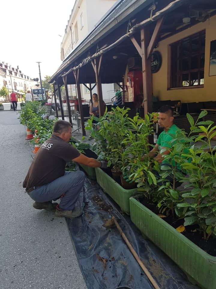Obnova terase i žardinjera poznatog vrbovečkog kafića