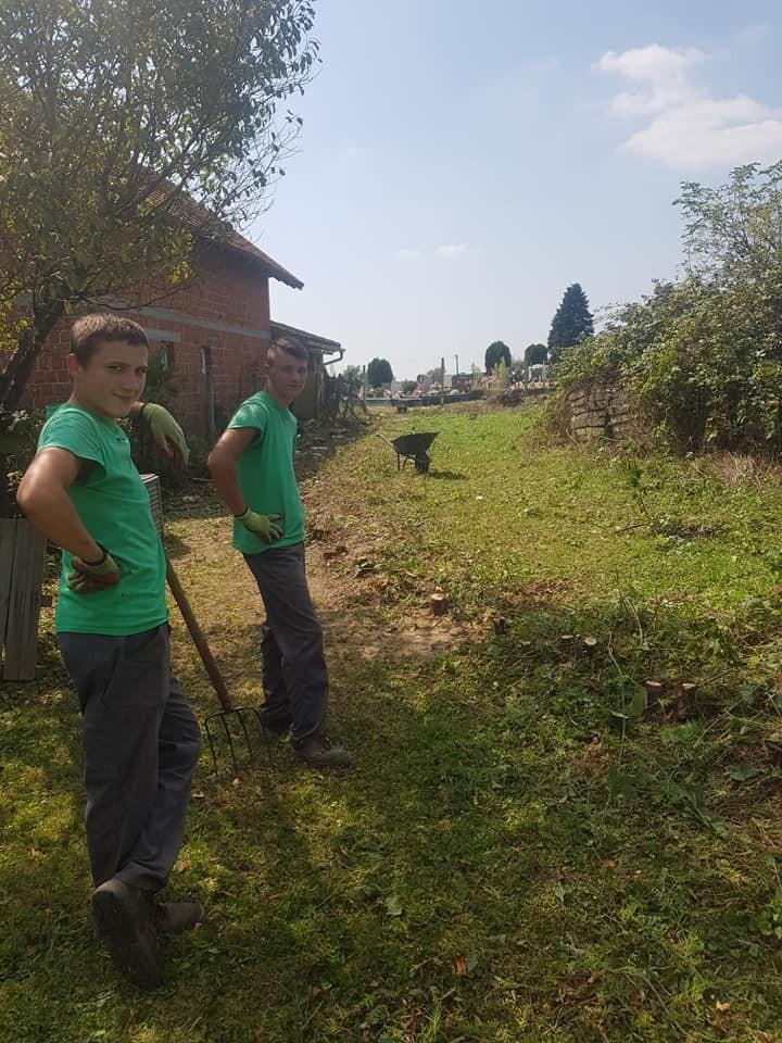 Uklanjanje stare žičane ograde i živice prije sadnje novih biljaka
