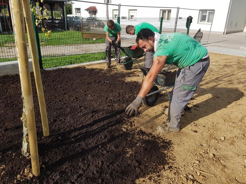 Kulturni centar Dubrava, hortikulturni radovi sadnje stabala i uređenja travnjaka