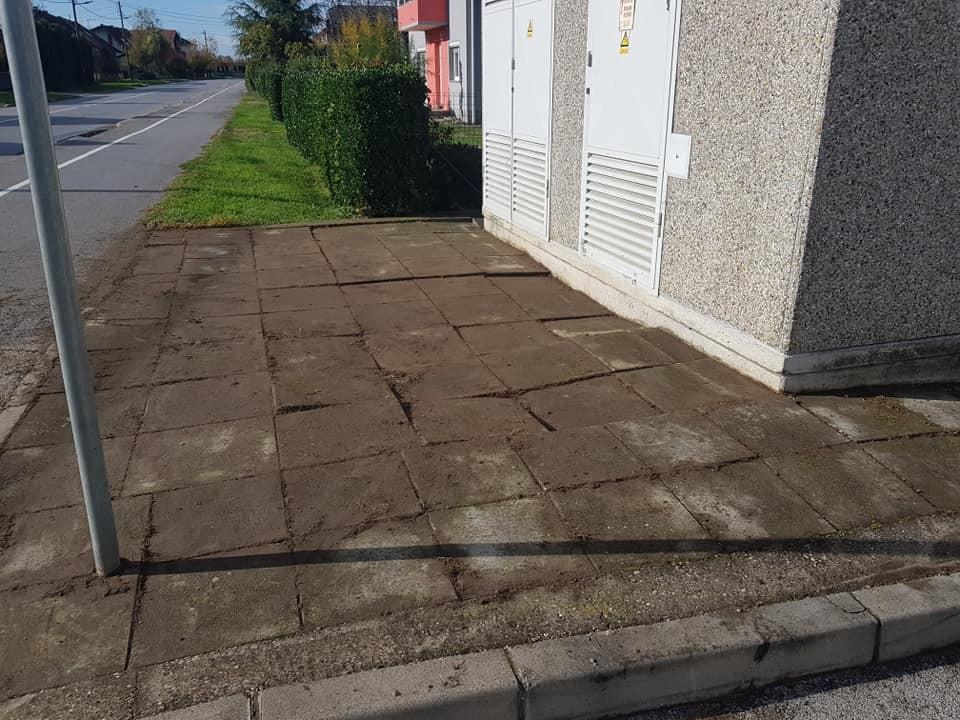 Čišćenje betonskih kocki, rubnjaka i ostalih betonskih, kamenih ili asfaltnih površina od korova