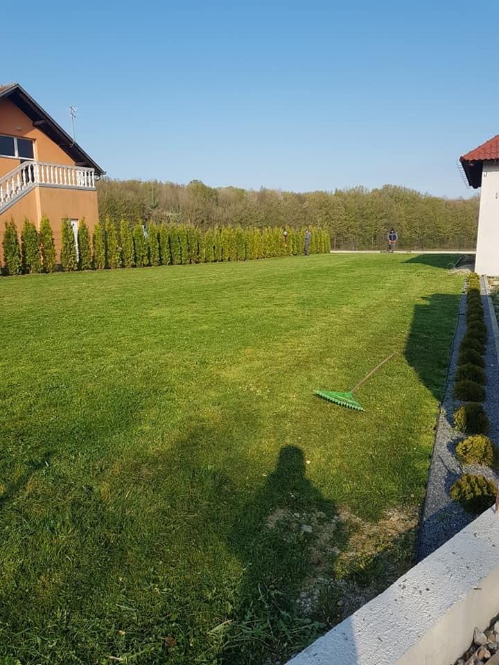 Košnja travnjaka, orezivanja, okopavanje grmlja, sadnja stabala