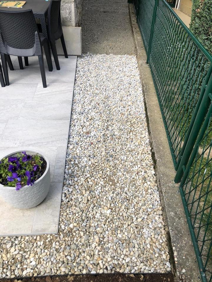 Završni rezultat postavljanja vrtnih rubnjaka