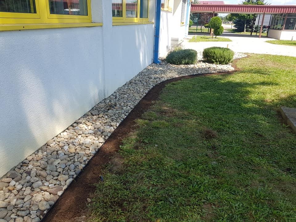 Izvođenje detalja i uređenje okoliša poslovne zgrade