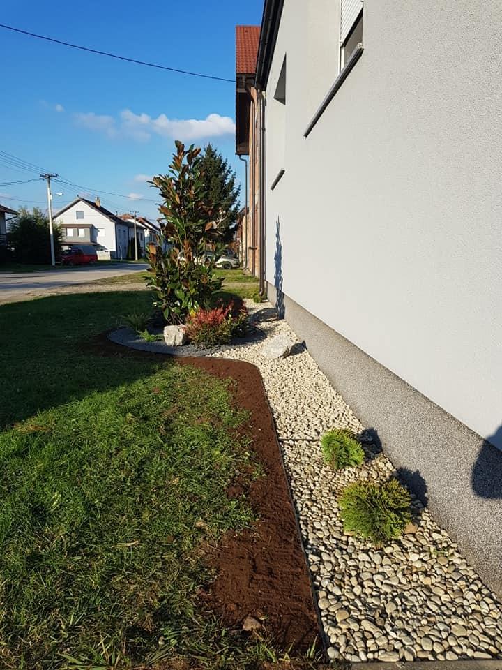 Uređenje prednjeg dijela dvorišta i sadnja biljaka